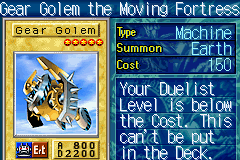 Gear Golem the Moving Fortress (Yu-Gi-Oh) - Video Game Character