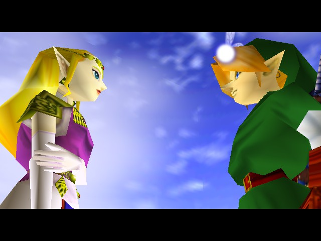 Legend of Zelda, The - Ocarina of Time - Cut-Scene  - gettin kinda awkward - User Screenshot