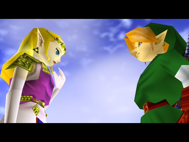 The Legend of Zelda - Ocarina of Time - Cut-Scene  - will they kiss - User Screenshot