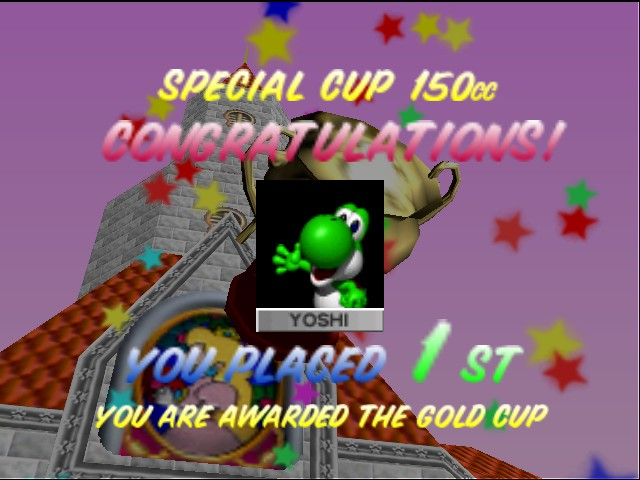 Mario Kart 64 - YAY I WON ON 150CC! - User Screenshot