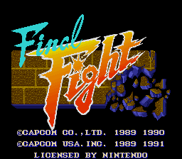 Final Fight - Title Screen - User Screenshot