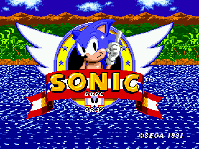 Sonic 1 - Code Gray  - Title Screen - User Screenshot