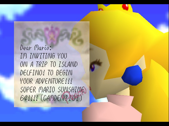 Super Mario Sunshine 64 - Letter - User Screenshot