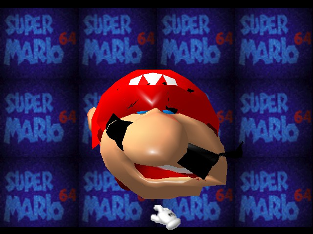Super Mario 64 - Introduction  - Mario when he just got out of bed. - User Screenshot