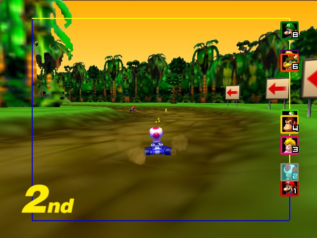 Mario Kart 64 - Lol! Star when 2nd! - User Screenshot