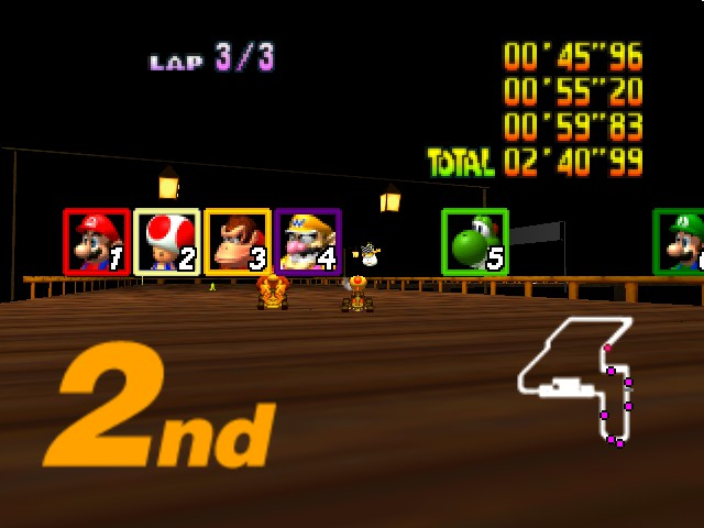 Mario Kart 64 - Eh. 2nd is good. - User Screenshot