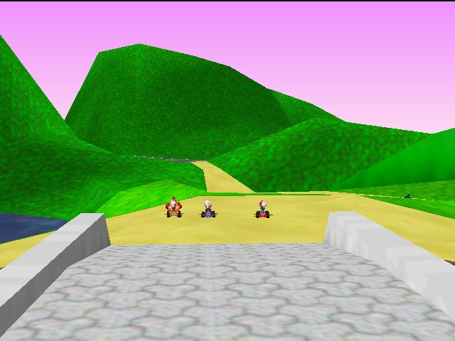 Mario Kart 64 - LOL! Luigi over there. - User Screenshot