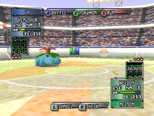 Pokemon Stadium 2 - Battle  - Omg. Look how small he is! - User Screenshot