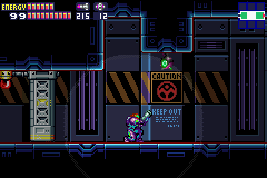 Metroid Fusion - KEEP OUT - User Screenshot
