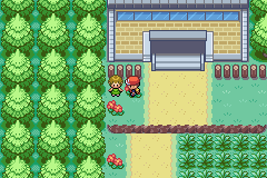 Pokemon Fire Red Omega - this lady by viridian gives you treecko - User Screenshot