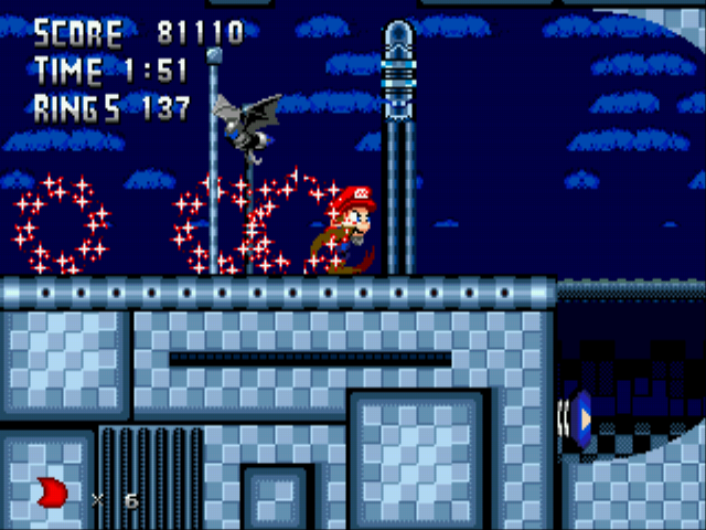 Metal Sonic Hyperdrive (Beta) - Mario, is that you!? - User Screenshot