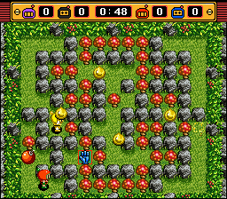 Super Bomberman 2 - Suddenly, bouncing squishy bombs everywhere! - User Screenshot