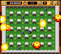 Super Bomberman 2 - On a side note, manage your salvo... - User Screenshot