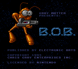 B.O.B. - Screenshot 1: Title screen - User Screenshot