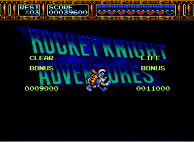 Rocket Knight Adventures - What a Pose! - User Screenshot