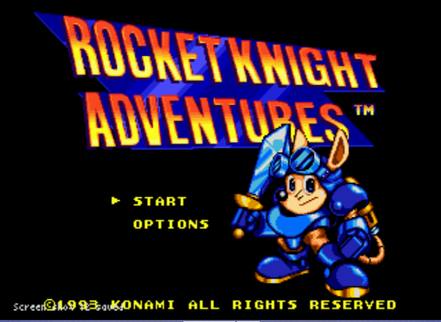 Rocket Knight Adventures - Title Screenshot. - User Screenshot