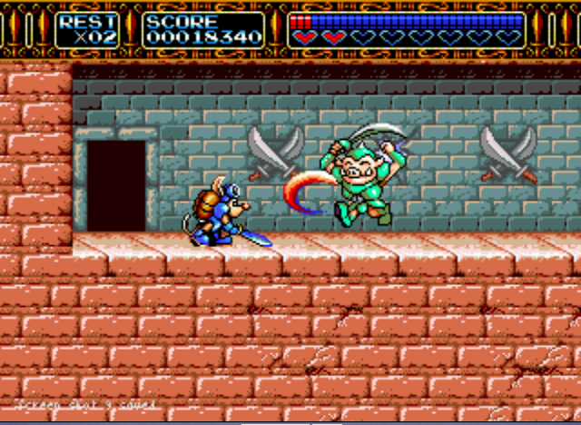 Rocket Knight Adventures - The attack... - User Screenshot