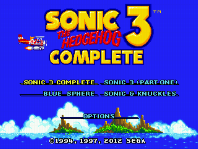 Sonic 3 Complete - All in one! - User Screenshot