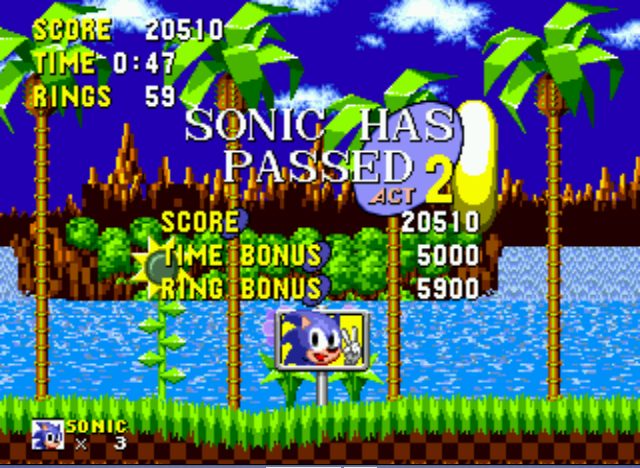Sonic the Hedgehog - DANG!, I Missed it! - User Screenshot