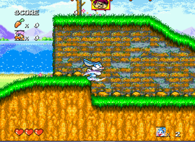 Tiny Toon Adventures - Busters Hidden Treasure - Running like Sonic. - User Screenshot