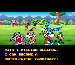 Tiny Toon Adventures - Wacky Sports Challenge - Plucky 4 Prez! - User Screenshot