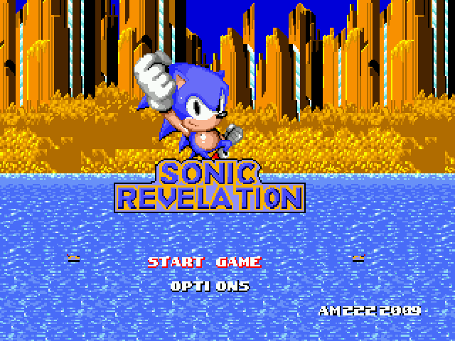 Sonic 1 - Revelation - Title Screen - User Screenshot