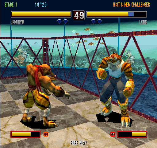 Bloody Roar 2 (World) - Level Stage 1 - Yes, you transform into Zaonthropes, - User Screenshot