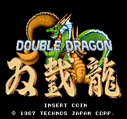 Double Dragon (Japan) - Introduction  - Title screen - User Screenshot