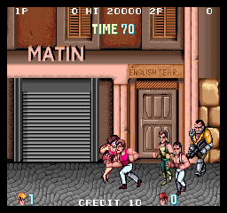 Double Dragon (Japan) - Cut-Scene  - Ouch - User Screenshot