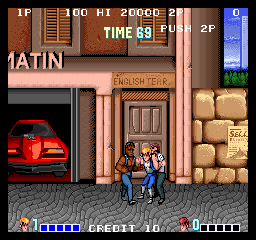 Double Dragon (Japan) - Level Level 1 - Lemme go! Is my girlfriend not enough!? - User Screenshot