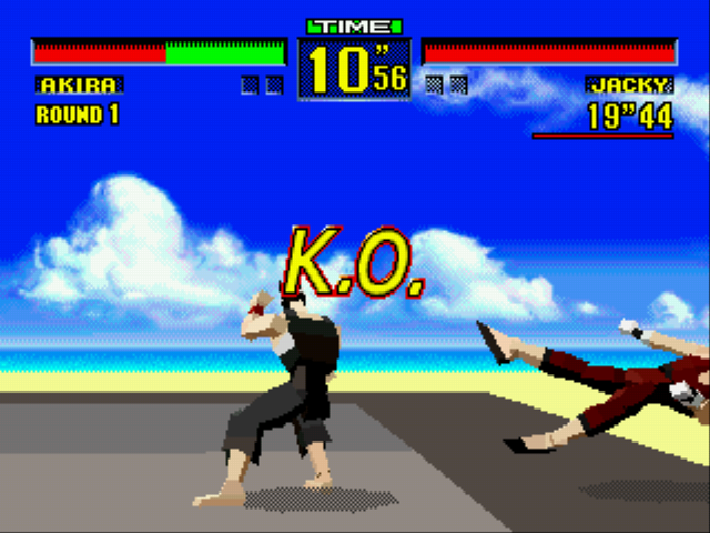 Virtua Fighter - akira can send cars flying with tetsuzanko - User Screenshot