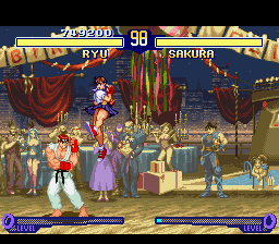 Street Fighter Alpha 2 - Ryu vs Sakura - User Screenshot