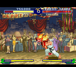 Street Fighter Alpha 2 - Shakunetsu Hadouken (hadouken with flame) - User Screenshot