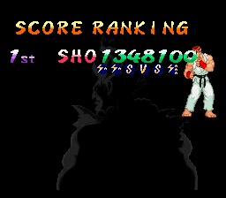 Street Fighter Alpha 2 - My score, played on normal - User Screenshot
