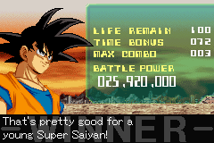 Dragon Ball Z - Supersonic Warriors - Easy win - User Screenshot