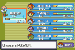 Pokemon Tiberium - 6 starter pokemon from earlier games - User Screenshot