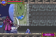Castlevania - Aria of Sorrow - Death in Boss Rush. - User Screenshot