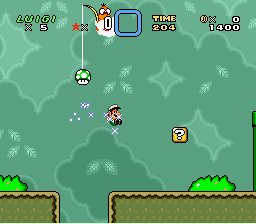 Super Mario All-Stars  Super Mario World - small fire luigi - User Screenshot