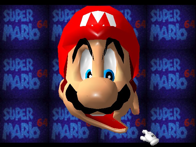 Super Mario 64 - Introduction  - Mario attempts to eat his left ear. - User Screenshot