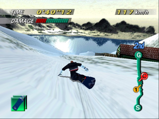 1080 Snowboarding - Level  - ahh no jumpy, gonna crash - User Screenshot