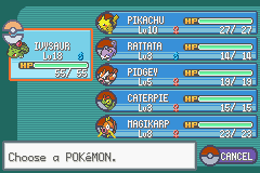 Pokemon Lightning Yellow (beta v0.12) - my team befor misty - User Screenshot