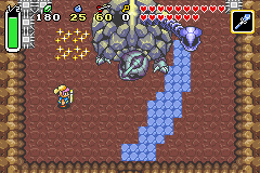 The Legend of Zelda - A Link to the Past & Four Swords - Battle  - Tenth Boss (fire head down) - User Screenshot