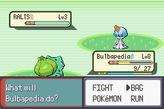 Pokemon Rebirth - Battle  - no pokeballs :( - User Screenshot