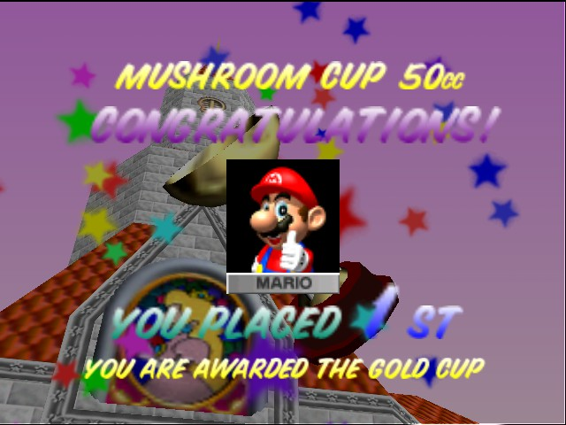 Mario Kart 64 - Hee hee! I got it! - User Screenshot