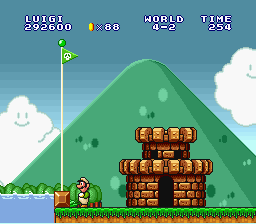 Super Mario All-Stars - I went over the flagpole again! - User Screenshot