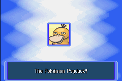 Pokemon Mystery Dungeon - Red Rescue Team - Character Profile  - A Psyduck? ........Okay....... - User Screenshot