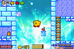 Kirby & the Amazing Mirror - flying fat kirby - User Screenshot