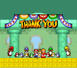 New Retro Mario Bros - Ending  - Thank You - User Screenshot