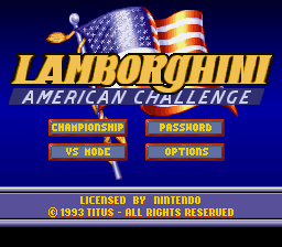 Lamborghini - American Challenge - Menus Title Screen -  - User Screenshot