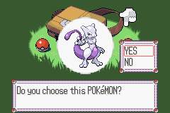 Pokemon Physic - Mewtwo Starter - User Screenshot